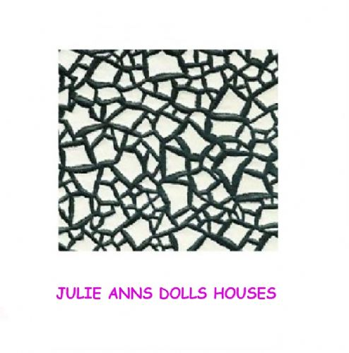 Dolls house crazy paving  flooring wall  wallpaper , free delivery